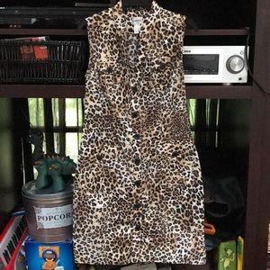 Darling Chico's sleeveless cheetah dress